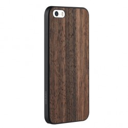 Накладка O!coat 0.3 + Wood для iPhone 5S черное дерево