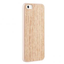 Накладка O!coat 0.3 + Wood для iPhone 5S красный дуб
