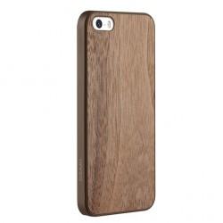 Накладка O!coat 0.3 + Wood для iPhone 5S грецкий орех