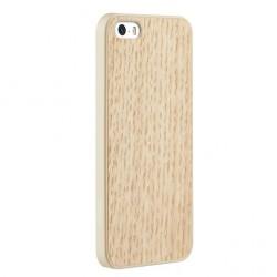 Накладка O!coat 0.3 + Wood для iPhone 5S белый дуб