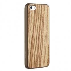 Накладка O!coat 0.3 + Wood для iPhone 5S zebrano