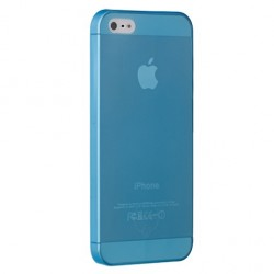Накладка O!coat 0.3 JELLY для iPhone 5 голубая