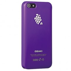 Накладка O!coat-Fruit Grape для iPhone 5 фиолетовая