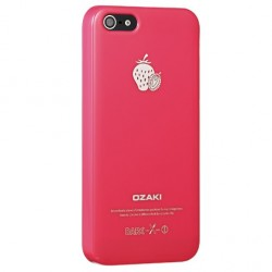 Накладка O!coat-Fruit Strawberry для iPhone 5 красная